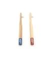 Brosse à dents en bambou pour enfants souple - COULEUR AU CHOIX